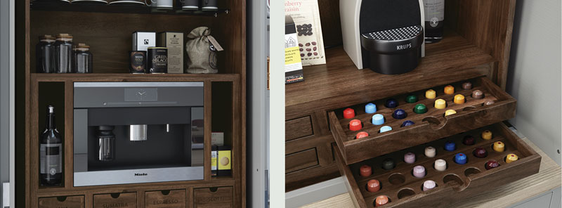 Coffee maker storage