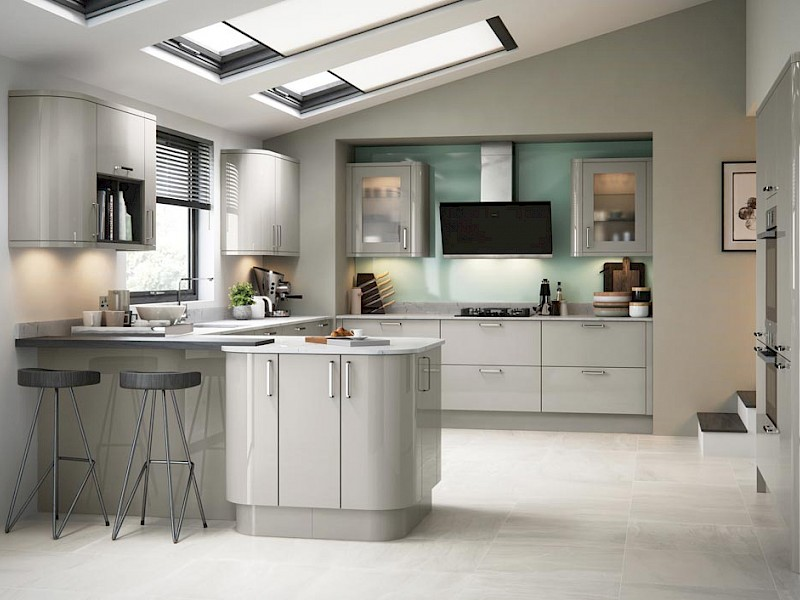 Zola Gloss Kitchen in cashmere