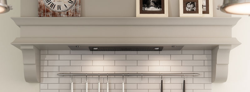 Kitchen country style hob extracter in cottage mantle